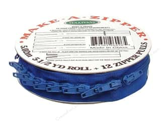 Zippers $1 - $2: Sullivans Make-A-Zipper Kit 5 1/2 yd. Royal Blue