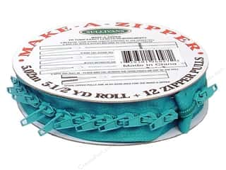 Zippers $1 - $2: Sullivans Make-A-Zipper Kit 5 1/2 yd. Turquoise