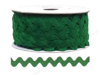 Ribbon Work Tapes: Ric Rac by Cheep Trims  11/16 in. Emerald (24 yards)