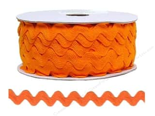 Cheep Trims Ric Rac jumbo: Ric Rac by Cheep Trims  11/16 in. Orange (24 yards)