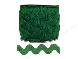 rick rack: Jumbo Ric Rac by Cheep Trims  1 13/32 in. Emerald (24 yards)