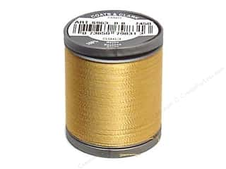 Threads Rayon, Silk, Metallic & Nylon Thread: Coats Rayon Machine Embroidery Thread 225 yd. #7450 Temple Gold
