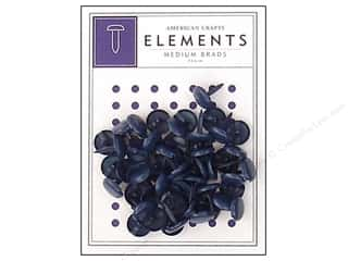 American Crafts Elements Brads Medium Denim 50pc