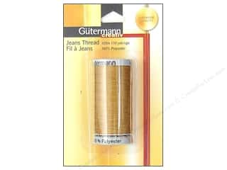 Gutermann Special Purpose Threads: Gutermann Jeans Thread Polyester Gold 100m