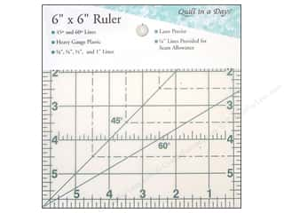 "Seam Creaser $6 - $8: Quilt In A Day Rulers 6"" Square Up"