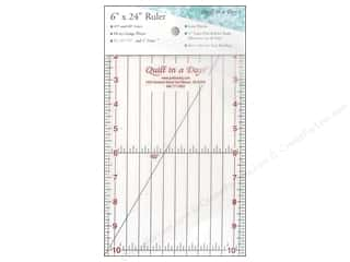 "Guidelines 4 Quilting Rotary Rulers & Templates: Quilt In A Day Rulers 6""x24"""