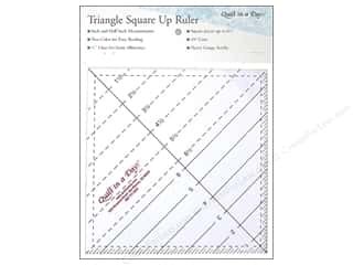 "Elisa's Backporch Design Quilting Templates / Sewing Templates: Quilt In A Day Rulers 6.5"" Triangle Square Up"