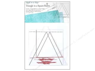 Father's Day Sewing & Quilting: Quilt In A Day Rulers Triangle in a Square