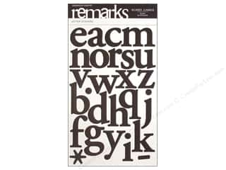 American Crafts Alphabet Stickers Mumbo Jumbo Black