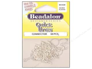 Beading & Jewelry Making Supplies: Beadalon Quick Links Connectors Medium Silver 60 pc.