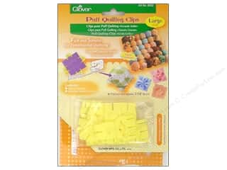 Bazzill Templates: Clover Puff Quilting Clips Large