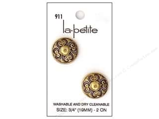 LaPetite Shank Buttons 3/4 in. Antique Gold #911 2pc.