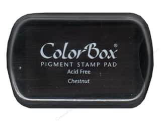 Rubber Stamping Height: ColorBox Pigment Inkpad Full Size Chestnut
