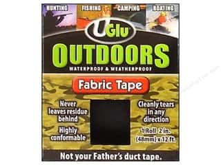 "UGLU Outdoor Fabric Tape 2""x 12' Roll Black"