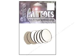 "Darice Mirrors Oval 1""x .75"" 8pc (3 packages)"