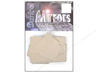 "Darice Mirrors Square 1"" 10pc (3 packages)"