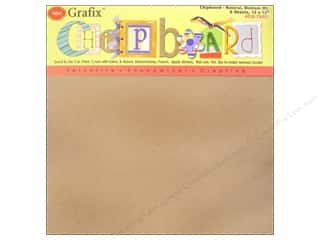 Grafix Chipboard Med Weight 12&quot;x 12&quot; Natural 6pc