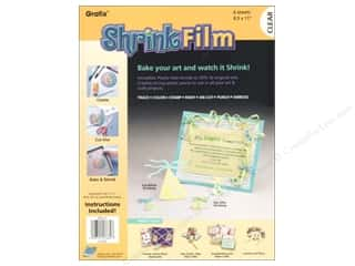 Grafix Shrink Film 8.5&quot;x 11&quot; 6pc Clear