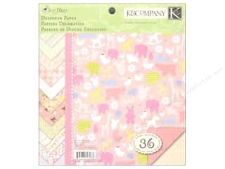 K & Company Height: K&Company Paper Pad 8.5x8.5 Double Sided Itsy Bitsy Girl Designer