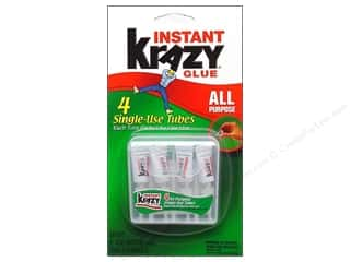 Elmer's Krazy Glue Carded Single Use Tubes 4 pc