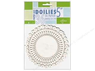 "Novelty Items: Fox Run Craftsmen Paper Doily 5"" Round 36 pc White"
