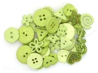 button: Jesse James Embellishments Color Me Lime