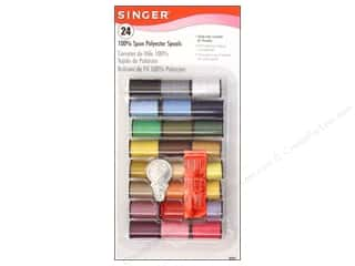 Singer Brown: Singer Thread Assortment Needle/Threader 24pc