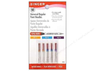 Singer Needles / Machine Needles: Singer Regular Point Machine Needles Universal Size 11/14/16 10 pc.