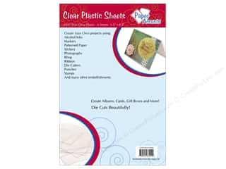 Acrylic Sheets $5 - $8: Plastic Sheet  5 1/2  x 8 1/2  in. by Paper Accents Clear .01 in. 6 pc.