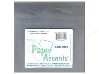 Paper Accents Plastic Sheet 6x6 Clear .010 (25 sheets)