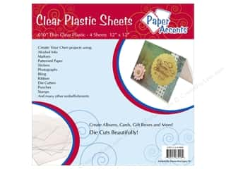 Plastic / Acetate Sheets: Plastic Sheet 12 x 12 in. by Paper Accents Clear .01 in. 4 pc.