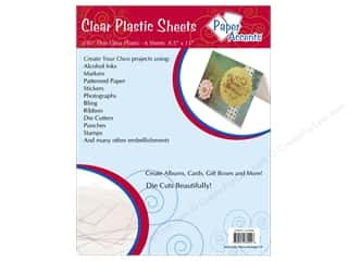 Scrapbooking Sheets: Plastic Sheet 8 1/2 x 11 in. by Paper Accents Clear .01 in. 6 pc.