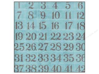 Amanda Blu & Company: K&Co Paper 12x12 Cut N Paste Embossed Numbers (25 sheets)