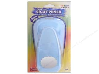 Clearance Uchida Tri-Corner 3 in 1 Punch: Uchida Clever Lever Super Jumbo Craft Punch 1 7/8 in. Scallop Oval