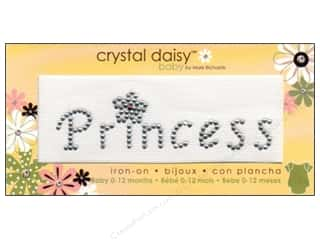 Irons $3 - $4: Mark Richards Iron On Crystal Daisy Baby Princess