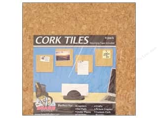 "Cork 16"": The Board Dudes Cork Tile 6 x 6 x 3/16 in. 4 pc."
