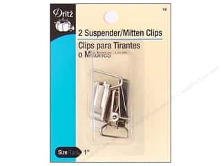 Dritz Clip Suspender Nickel 2pc
