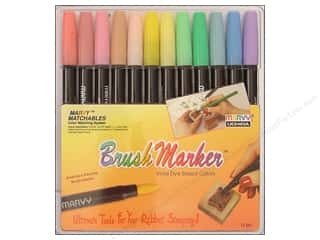Uchida Brush Art Markers Set 12pc Pastel