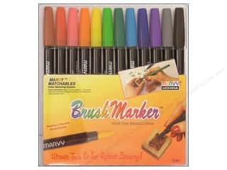 Uchida Black: Uchida Brush Art Markers Set 12pc Primary