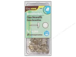 "Dritz Home Dec Nails 3/8"" Smooth Nickel 36pc"