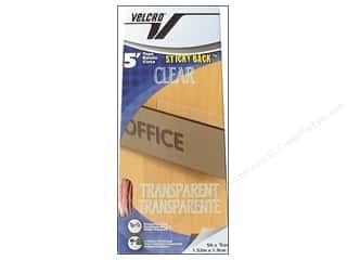 Velcro Sticky Back Tape Dispenser 3/4 in. x 5 ft. Clear