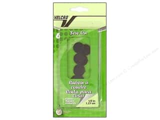 VELCRO brand Sew On Coin 1/2&quot; 6pc Black