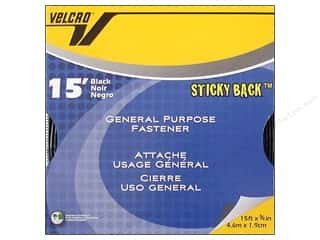 Velcro / Hook & Loop Tape: Velcro Sticky Back Tape 3/4 in. x 15 ft. Bulk Box Black (15 feet)