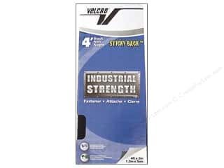 Velcro Sticky Back Industrial Strength 2 in x 4 ft Black