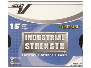 Velcro / Hook & Loop Tape Sticky Velcro / Sticky Hook & Loop Tape: Velcro Sticky Back Industrial Strength 2 in. x 15 ft. Black (15 feet)