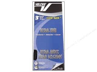 Velcro Sticky Back UltraThin Tape 1 in. x 3 ft. Black
