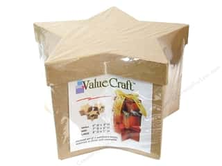 Paper Mache Medium Star Box Value Pack Set of 3 by Craft Pedlars