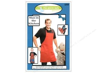Apron / Stamped Aprons Size: The Apron Lady Man In The Kitchen Pattern