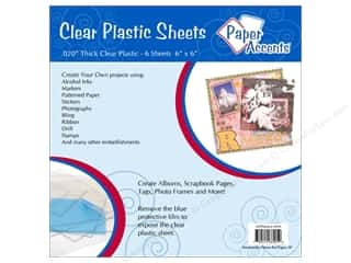 Plastic / Acetate Sheets: Paper Accents Plastic Sheet 6x6 Clear .020 6pc