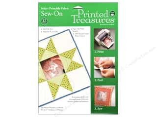 Dritz Printed Treasures Fabric Sew On 12pc